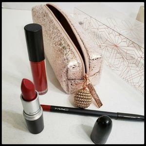 Snowball Lip Bag in Red Holiday Set - Limited Edit